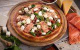 Пицца с копченым лососем и фетой 30см